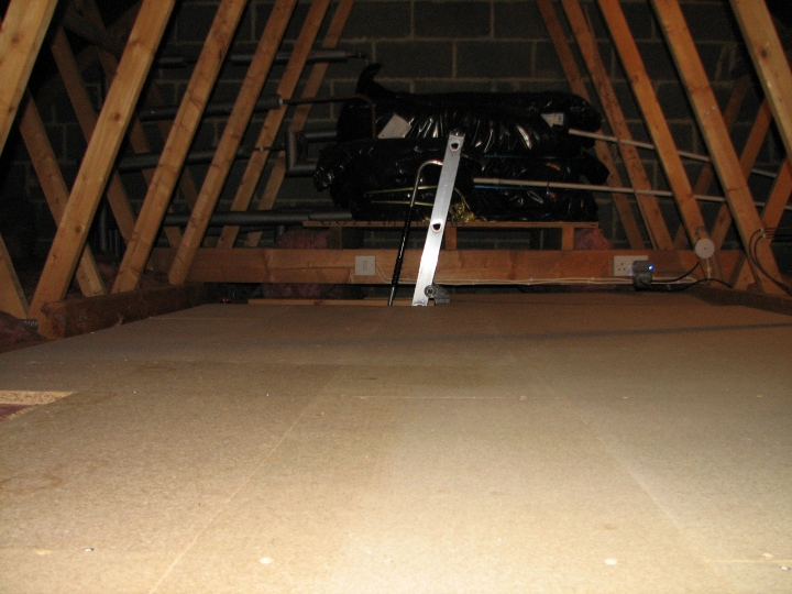 small attic remodel before and after - Loft Storage