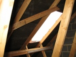 holes in roof for velux