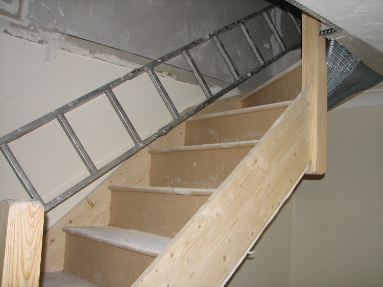 Staircase Leading To Loft
