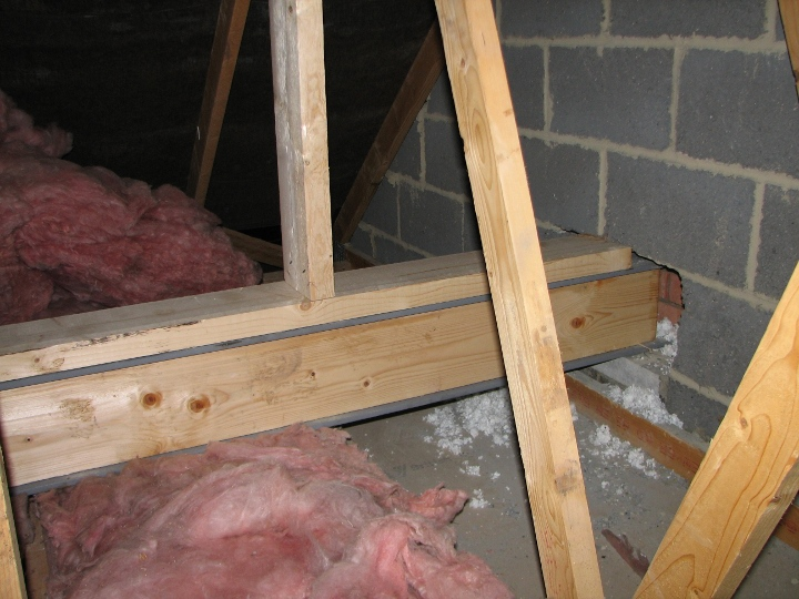 Example Loft Conversion Putting In The Steels