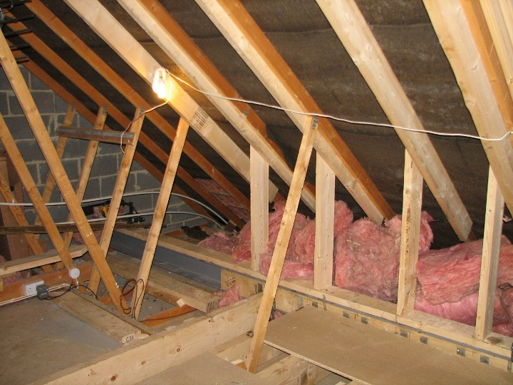 Example loft conversion structural timber work for Truss lofts