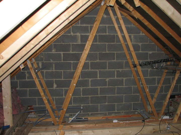 attic stair ideas - Example Loft Conversion Structural Timber Work